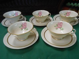 "Great Collectible FRANCISCAN China ""Cherokee Rose"" Set of 5 CUPS & SAUCERS - $36.44"
