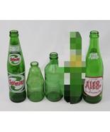 Lot of 4 Vintage Soda Pop Glass Bottles - Mountain Dew Stubby, Ale 8, Su... - $33.65