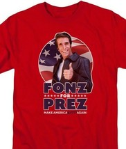 Fonzie For Prez Happy Days T Shirt classic tv show 70s 80s graphic tee CBS1823 image 2