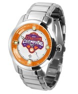 Clemson Tigers National Champions Mens Titan Steel Watch, Wallet and Dog... - $156.75