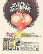 Bubble Yum 1988 Bubble Gum Prize Premium Promo Ad - $14.99