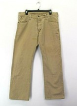 Levis Men's W34 L30 Vintage Straight Buttons Fly Chino Khaki Pants Cotton Beige - $19.99