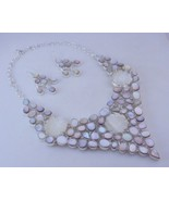Cameo Mother Of Pearl Silver Overlay Handmade Jewelry Necklace F-486-39 - $118.80