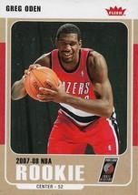 Greg Oden Fleer 07-08 #223 Rookie Card Glossy Portland Trail Blazers Mia... - $0.50