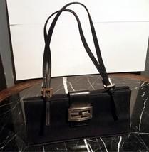 adb6ad5b3de8 Fendi Logo Classic Black Fabric Small Handbag Magnet Lock Vintage Made i...  -