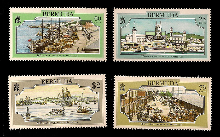 Bermuda Unfranket Stamp Set - 200th Anniversary of Hamilton