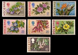 Bermuda Unfranked Stamp Set - Floral Designs- added Values 1 - $18.25