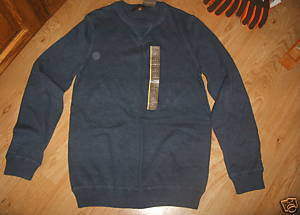 Men MERONA V-notch Neck Pull On Super Soft LS Sweater Heather Blue S NEW Small