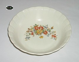 Cremax Floral Decor Bowl 9 In. Round MacBeth Evans - $16.75