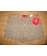 Ladies Junior GLO daisy duke SHORTS Sz 11 Coffee Latte Cotton Button Poc... - $9.99