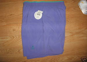 Ladies USA Olympic wear Purple Shorts Size L Large 12 14 JC Penney Pockets New