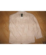 Ladies Harve Benard Cotton JACKET Blazer Sand Beige Open Eyelet Lined Me... - $14.99