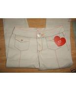 Ladies Beige Capri pants Stretch Angela Embroidered Rhinestones Bling Sz... - $9.99