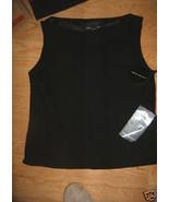 Ladies Black Tunic Top Lined Shirt Tank valerie dresses Cowl Neck Scoop ... - $9.99