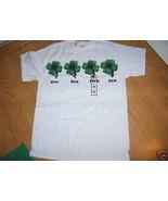 Ladies White St Patricks Day SS Paddy Top T Shirt Progressive Blurry Siz... - $9.99