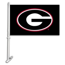 Georgia Bulldogs G Car Truck Premium Flag Window Banner + Pole Black - $13.98