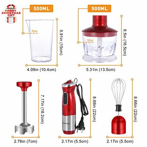 SUNAVO BL-08 Hand Immersion Blender Electric 700W Powerful Hand mixer Multi-Purp