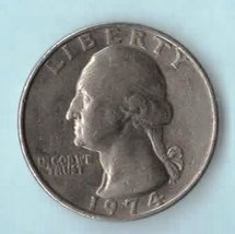 1974 P Washington Quarter - circulated moderate wear - $1.25