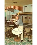 1962 mickey mantle baseball postcard holiday inn new york yankees - $59.99