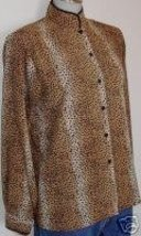 Leopard Animal Print Rail Halter Horse Show Shirt 10 - $40.00