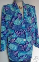 Purple Blue Teal Western Halter Horse Show Jacket M