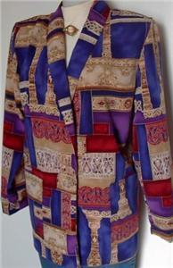 Purple Blue Tan Ect Western Halter Horse Show Jacket M