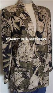 Western Halter Horse Show Jacket Tan Cream Black Sz 8