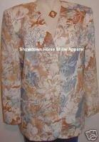 Western Halter Horse Show Jacket Plus Size 16 Tan Blue
