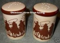Western Cowboy Horse Roper & Salt and Pepper Shakers