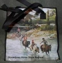 City Scapes Tote Bag Western Horse Rider Mountain Scene - $24.99