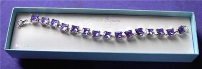Purple Square Stone Bracelet Horse Show Jewelry 7 1/2