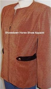 Western Halter Horse Show Hobby Tan Black Jacket Sz 12