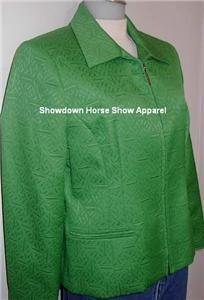 Western Rail Halter Horse Show Hobby Green Jacket Sz 6