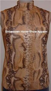 Snake Print Horse Show Apparel Showmanship Slinky S/M
