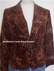 Leopard Western Horse Show Jacket Girl Youth Juniors S