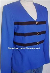 Royal Blue Black Western Halter Horse Show Jacket 10