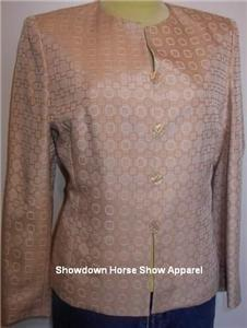Golden Tan Cream Western Apparel Horse Show Jacket 10