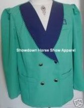Teal & Navy Western Horse Show Jacket Plus Size 20 WP - $40.00