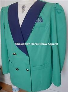 Teal & Navy Western Horse Show Jacket Plus Size 20 WP