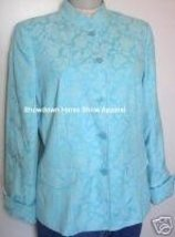 Blue Floral Western Horse Show Hobby Jacket Small New! - $45.00
