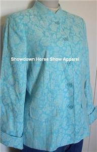 Blue Floral Western Horse Show Hobby Jacket Small New!
