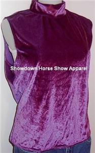 Shimmery Purple Western Horse Show Slinky Plus Size XL