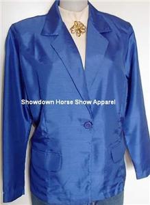 Shimmery Royal Blue Western Horse Show Hobby Jacket 10