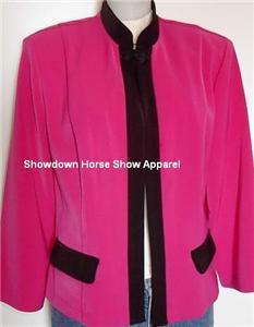 Magenta Bk Western Horse Show Hobby Jacket Plus Size 14