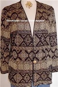 Black & Gold Western Halter Horse Show Hobby Jacket SM