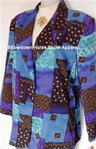 New Purple Gold Teal Western Horse Show Hobby Jacket M