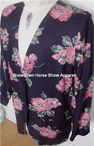 Navy Pink Western Horse Show Hobby Jacket Plus Size 18