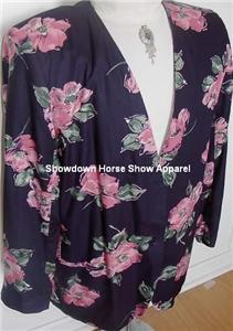 Navy Pink Western Horse Show Hobby Jacket Plus Size 18