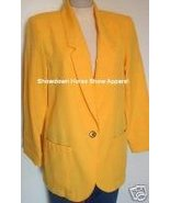 Bright Yellow Western Halter Horse Show Hobby Jacket 10 - $24.99