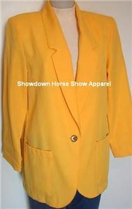 Bright Yellow Western Halter Horse Show Hobby Jacket 10